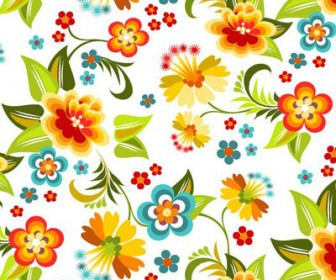 Beautiful Floral Pattern Free Vector Art