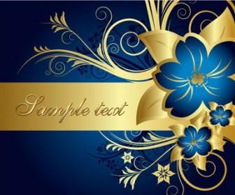 Festive Floral Card Vector Art Graphics