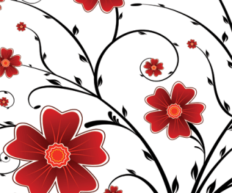 Flower Floral Background Vector Graphics Art