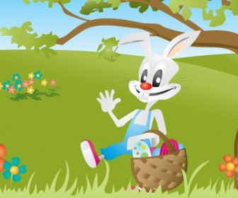Bunny Cartoon Art Illustration