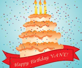 Happy Birthday Card Freebies Vector Art