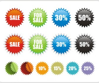 Sale Sticker Icons Freebies Vector Graphics