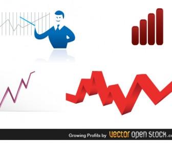 Growing Profit Business Vector