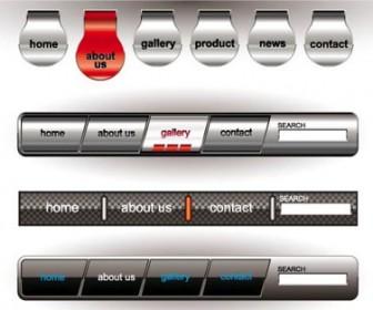 Metallic Web Button Design