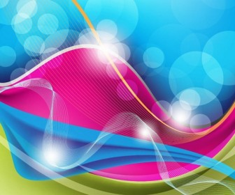 Abstract Waves & Bubble Background