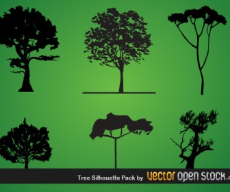 Trees Silhouette Vector Pack