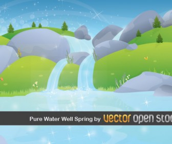 Spring Landscape Wallpaper Vector