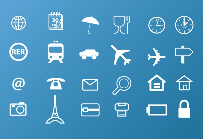 travel icons pack