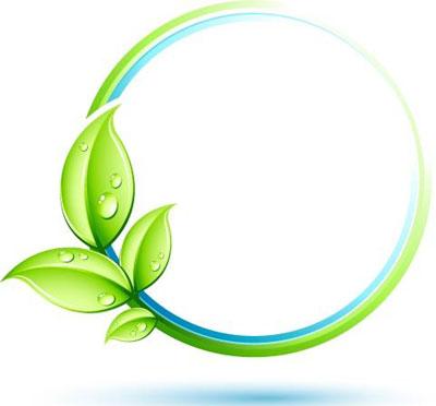 Green leaf logo free vector art for Plante 3d gratuit