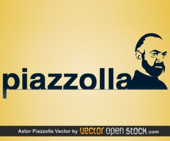 Astor Piazzolla Silhouette Portrait Vector