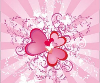 Valentine Heart Ornament Background
