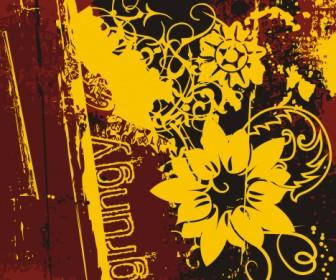 Grunge Flower Texture