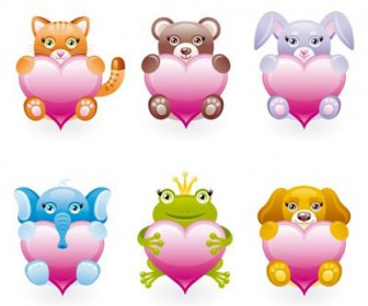 Animal Toy Icon Set