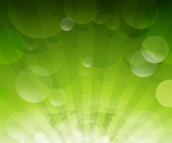 Abstract Green Bubble Background