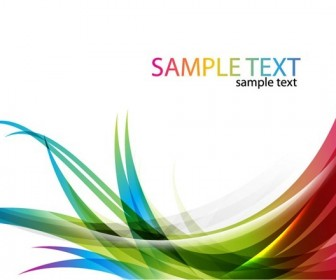 Colorful Card with Curve Background