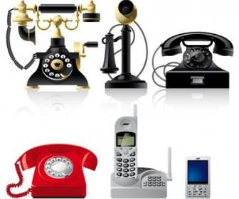 Telephone Illustration Set