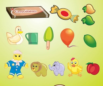 Fun Icon Set of Kid's Toy