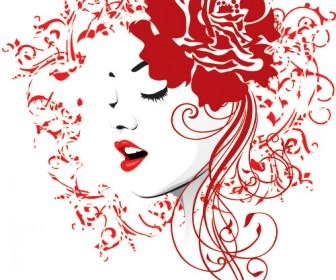 Rose Girl Portrait