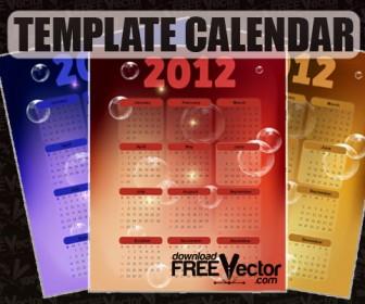 2012 Year Calendar Template