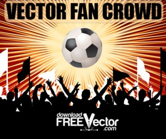 Football Fan Crowd Silhouette