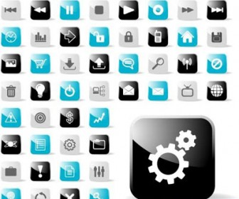 Glossy Web Button Icons