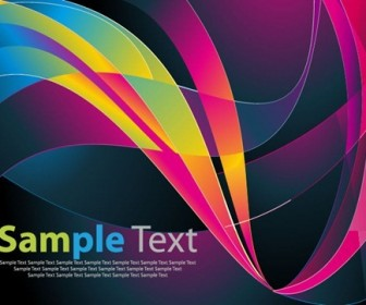 Abstract Wave Background Card Template