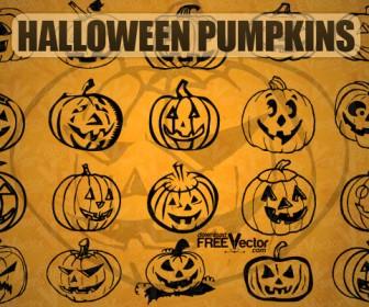Halloween Pumpkins Silhouette Pack