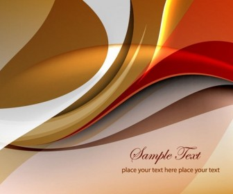 Abstract Brown Curves Wallpaper