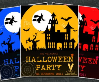 Colorful Halloween Party Poster