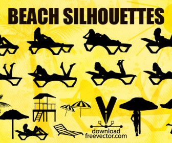 Girls Beach Silhouettes