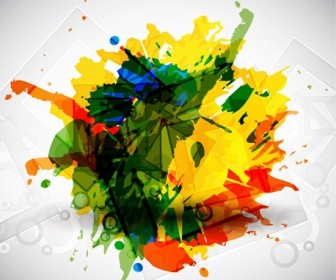 Colorful Grunge Background Vector Art