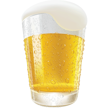 Beer Glass Vector Illustration Free Vector Graphics