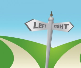 Signboard Two Ways Concept Vector