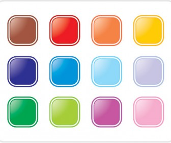 Colorful Rectangle Button Icon