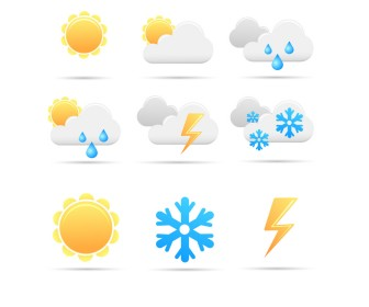 Free Weather Icon Vector Graphics