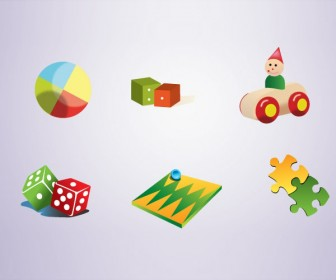 Toy Icons Free Vector Graphics