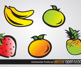 Fruit Icons Vector Graphics