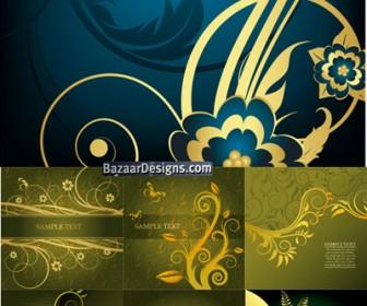Antique Floral Background Vector Graphics