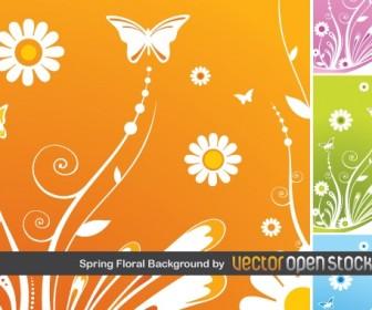Spring Floral Vector Background