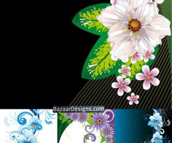 Abstract Flower Card Background