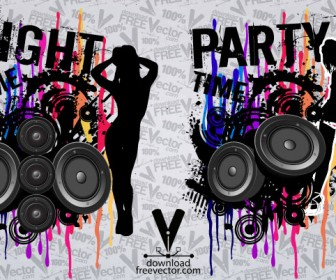 Grunge Party Banner Template