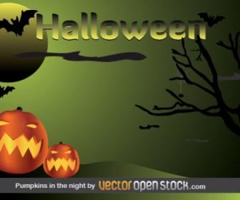 Halloween Pumpkins Free Vector Graphics
