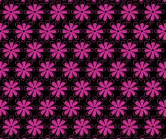 Flower Pattern Vector Background