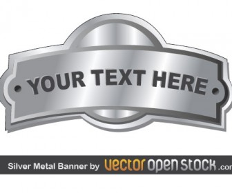 Silver Metal Banner Graphics