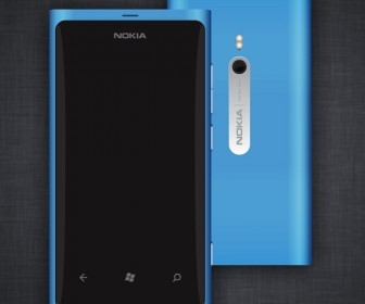 Nokia Lumia 800 Vector Graphic