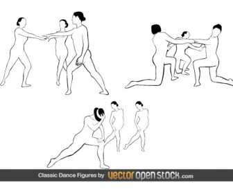 Classic Dance Figures Vector