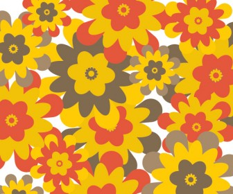 Retro Flower Background Vector