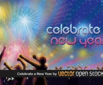 Celebrate Happy New Year Vector