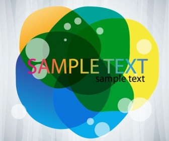 Abstract Bubble Card Vector Graphics
