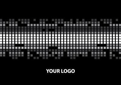 Techno Square Graphic Card Free Vector Art